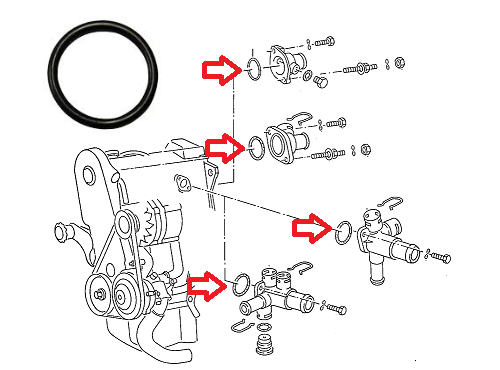 Waterflangeseal0371216877552p: Vw Corrado Engine Diagram At Johnprice.co